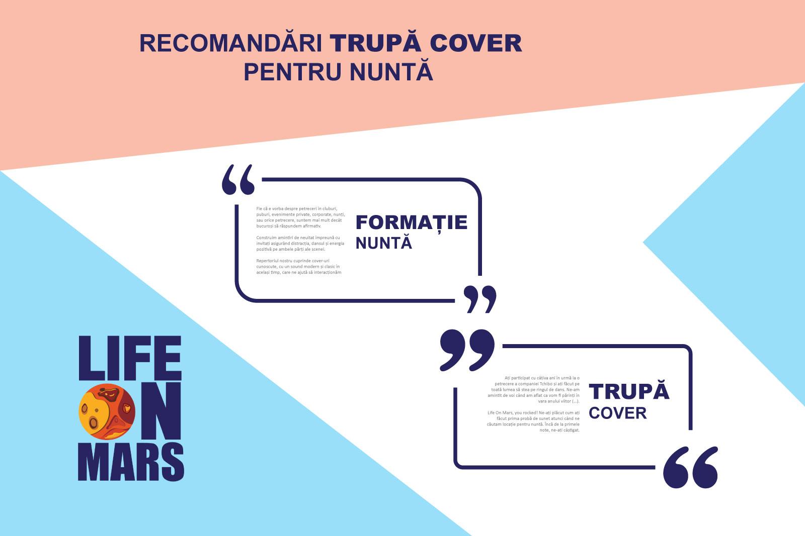 recomandari Formatie nunta, trupa cover